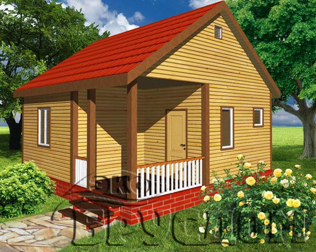 маленькие садовые деревянные домики под ключ