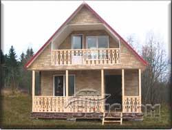 дом каркасно-щитовой 6х8