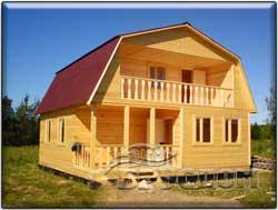 деревянный дом 8х8